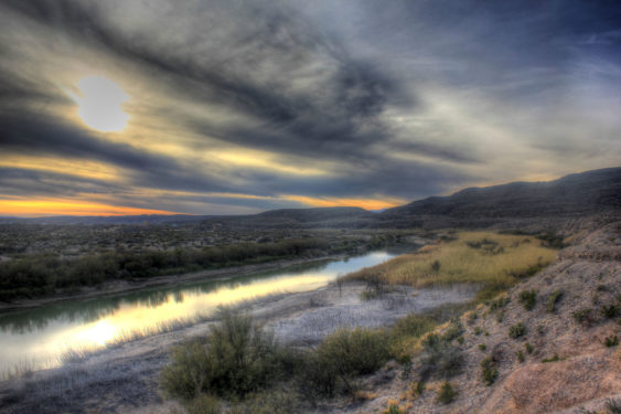 A View of the Rio Grande from Big Bend National Park, TX