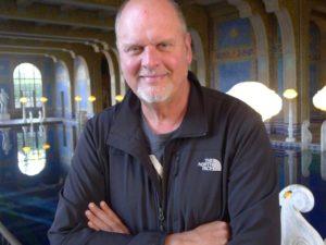 Michael Daugherty at Hearst Castle, San Simeon, California